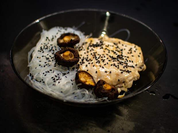 Фунчоза с курогрудкой - выбор офис-самурая! Рецепт, Еда, Терияки, Фунчоза, Куриное филе, Видео, Длиннопост