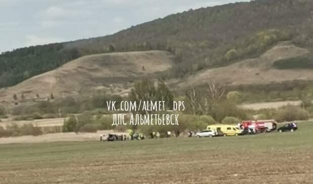 ВТатарстане упал самолет