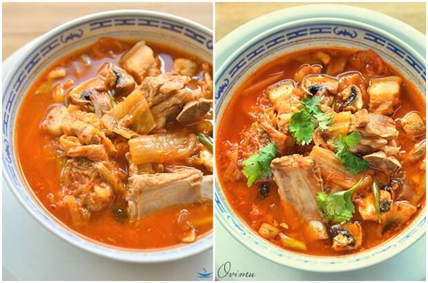 Осенний суп с кимчи