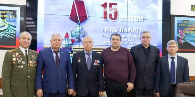 Традиционная встреча воинов-интернационалистов состоялась в Департаменте ГОЧСиПБ