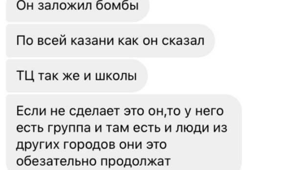 """Блогер заявила, что убийца детей """"заложил бомбы по всей Казани"""""""