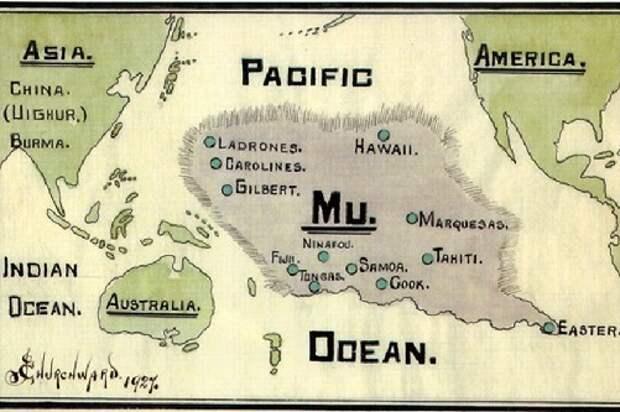 Теория о древнем, загадочном континенте Му
