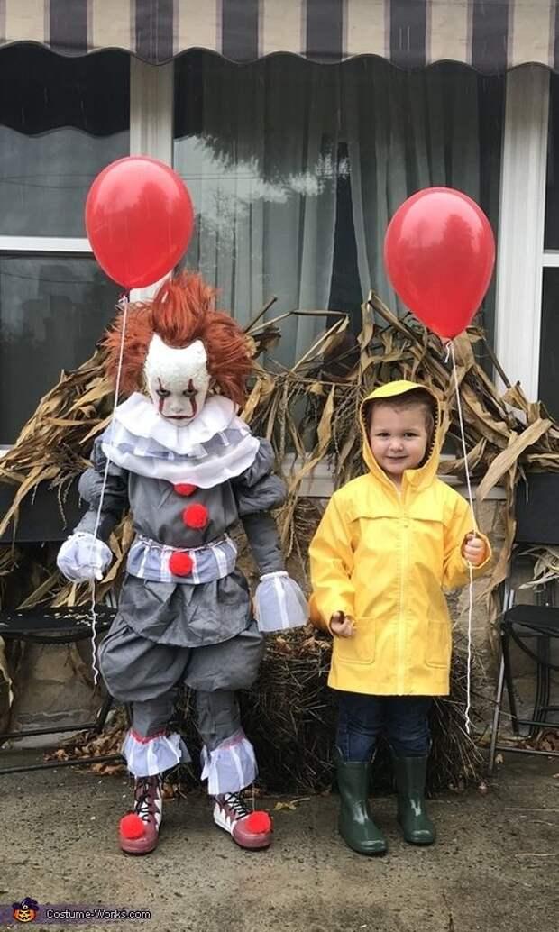 Николь: мой сын Лукас (6) любит Пеннивайза и попросил быть им на Хэллоуин в этом году. Я не мог найти ничего такого размера в интернете, поэтому я решил сделать это. Вскоре после этого...