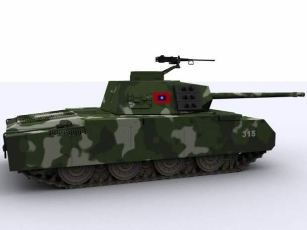 Сунь Ятсен. Таким мог стать тяжёлый танк Китайской Республики (Тайваня)
