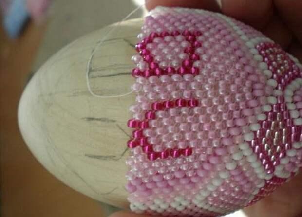 плетение пасхальных яиц из бисера для начинающих