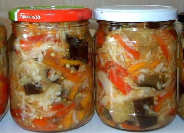 Салаты с капустой на зиму - 7 рецептов
