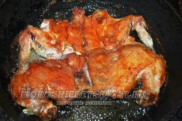 Цыпленок табака рецепт на сковороде