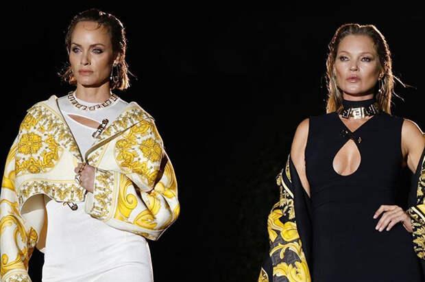 Кейт Мосс, Наоми Кэмпбелл, Джиджи Хадид и другие на совместном показе Versace и Fendi