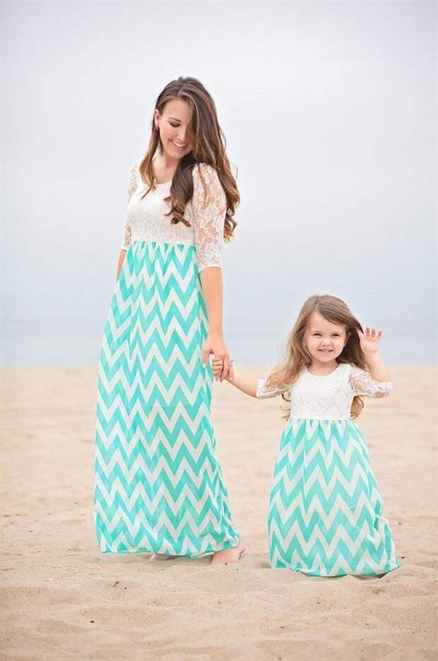 Сказочные наряды для мам и дочерей