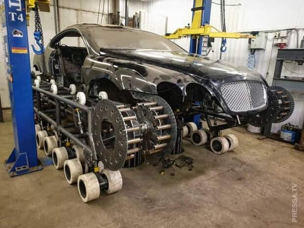 Российские специалисты по тюнингу надели на Bentley гусеницы