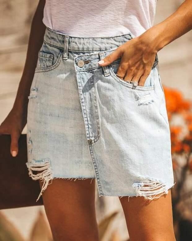 необычные джинсовые юбки