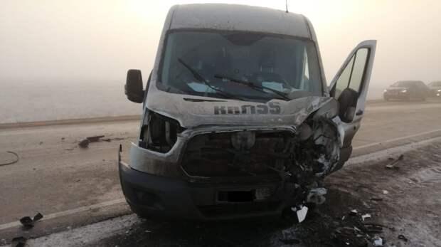 На трассе Орск – Гай в тройном ДТП пострадал водитель Chevrolet Niva