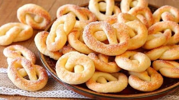 Хрустящее печень Сахарные колечки