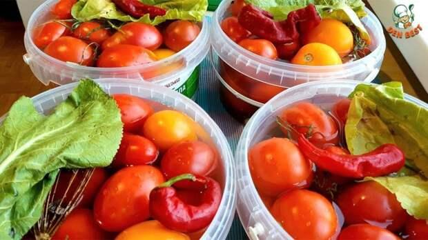 Квашеные помидоры с сахаром
