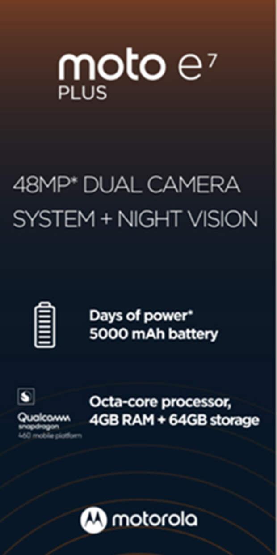 Смартфон Moto E7 Plus получит 48-Мп камеру с системой ночного видения