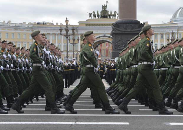 В Санкт-Петербурге более 4 тысяч военнослужащих Западного военного округа примут участие в репетиции военного парада