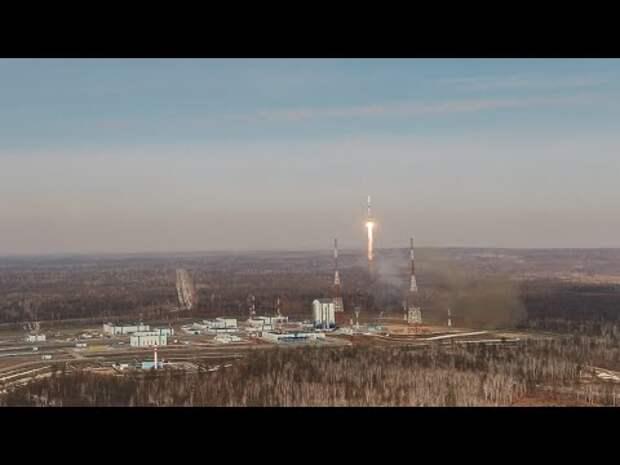С космодрома Восточный стартовала первая в этом году ракета «Союз»