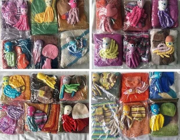Более ста комплектов одежды для малышей передали в роддом на улице Вилиса Лациса
