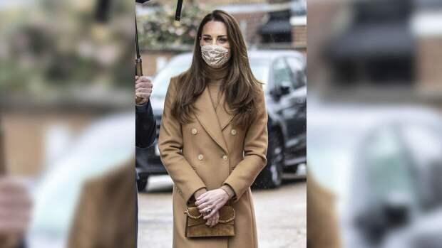 Кейт Миддлтон появилась на похоронах принца Филиппа в колье королевы