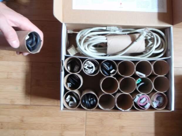 картонные втулки из-под туалетной бумаги кабели