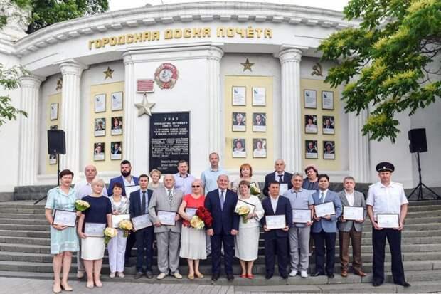 В Севастополе в День города открыли Доску почета