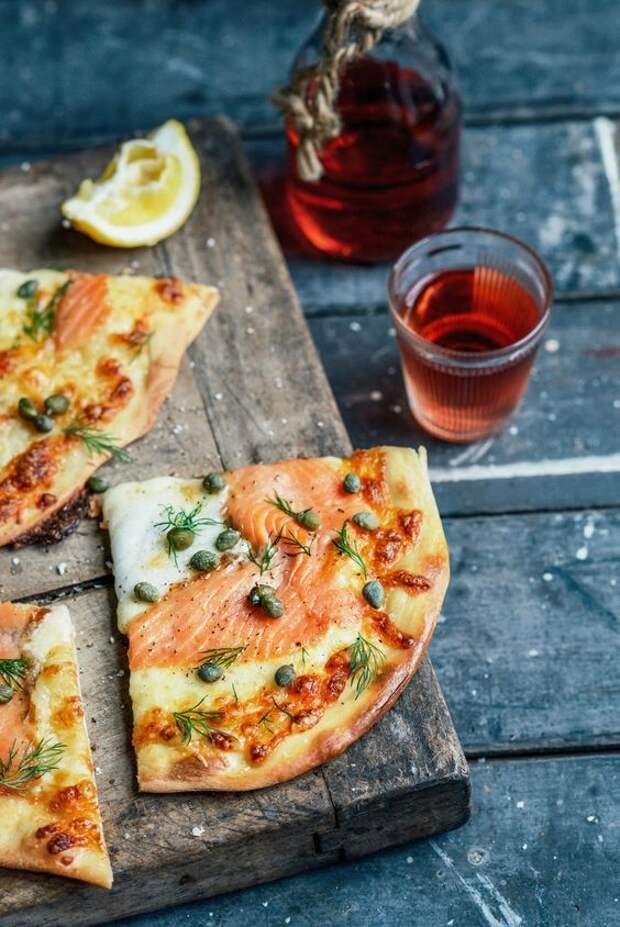 рыбная начинка для пиццы на тонком тесте