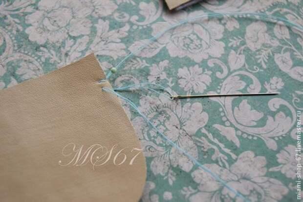 Красивая вышивка бисером края изделия 4