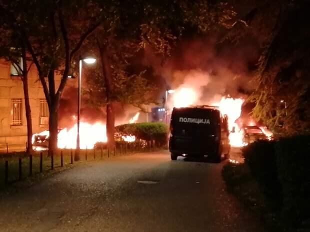 Беспорядки из-за коронавирусных ограничений в Белграде: протестующие проникли в здание парламента