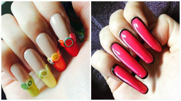 Вот так ее ногти выглядели 3 года назад девушка, длина, ногти