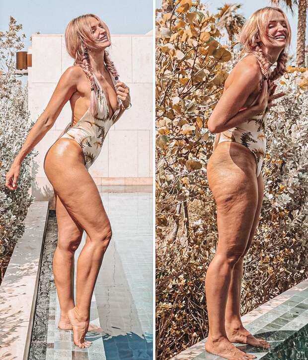 Честные фото вИнстаграм: инфлюенсер Даная Мерсер показала свои складки, растяжки ицеллюлит