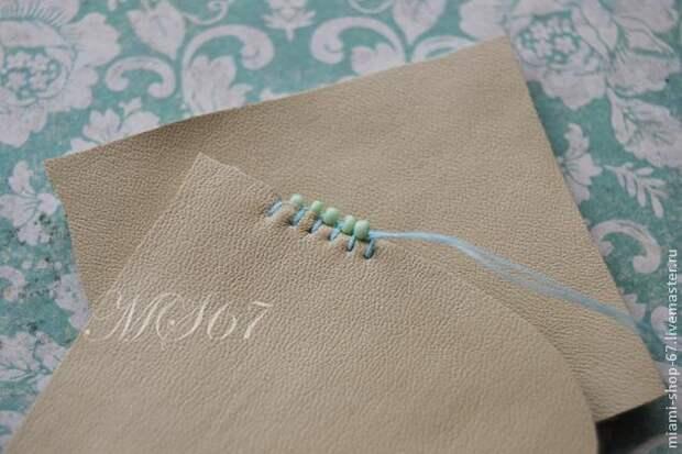 Красивая вышивка бисером края изделия 6