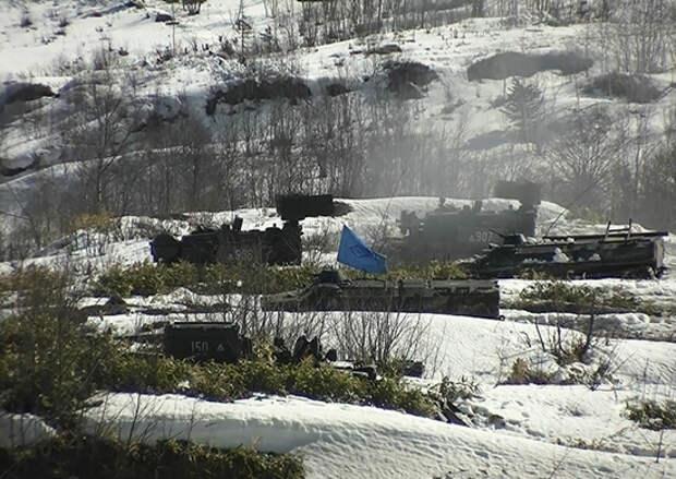 В армейском корпусе ВВО на Сахалине и Курильских островах подвели итоги за зимний период обучения