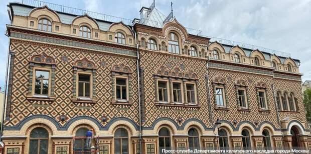 Собянин осмотрел итоги реставрации здания посольства Бразилии в Москве. Фото: Пресс-служба Департамента культурного наследия города Москвы