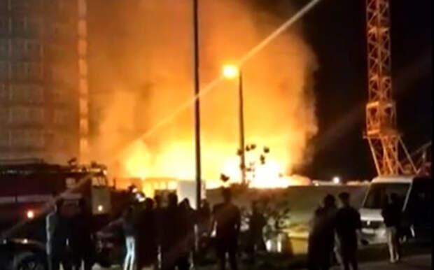 В Рязани загорелся строящийся ЖК на Московском