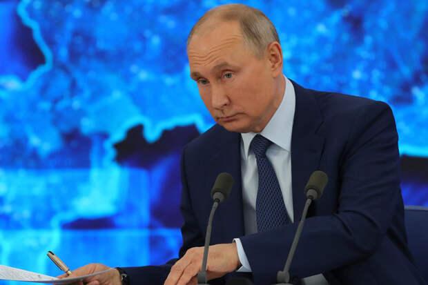 Путин назвал Россию «белой и пушистой», а не агрессивной