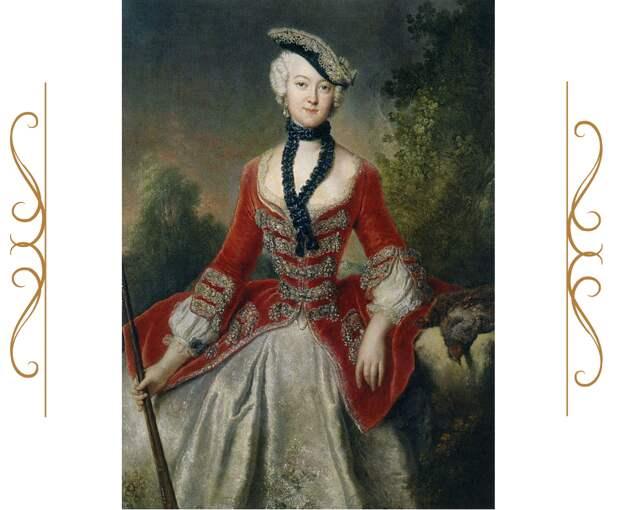 Графиня София-Мария фон Восс, Антуан Пэна, 1746-51. (сс) Из коллекции дворца Шарлоттенбург, Wikimedia Commons. Кстати, дело Лопухиных, о котором речь в фильме - 1743. То есть портрет даже нужного нам периода.