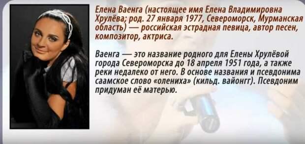 Лирика Елены Ваенги
