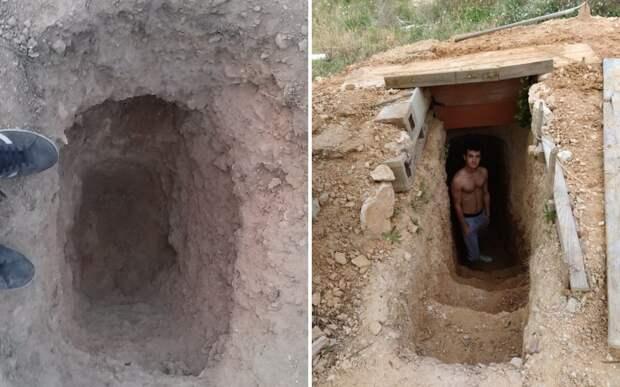 Парень сделал убежище под землей, чтобы выпустить пар после ссоры с мамой