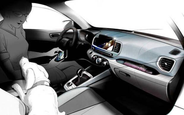 Новый кроссовер Hyundai получит практичный салон