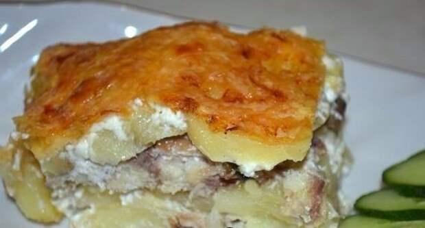 Картофельная запеканка со скумбрией 😋