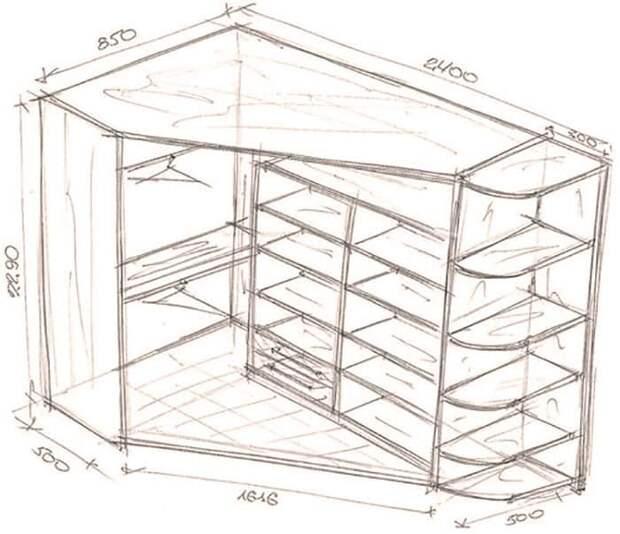 26 отличных идей с чертежами для создания шкафа мечты