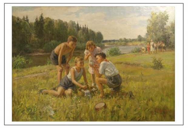 Будни и праздники советских людей в картинах Виктора Цветкова.