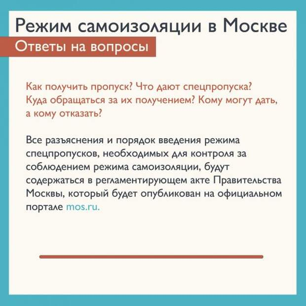 Правительство Москвы не будет вводить электронные пропуска