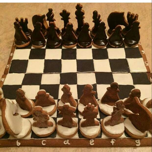 Печенье шахматы
