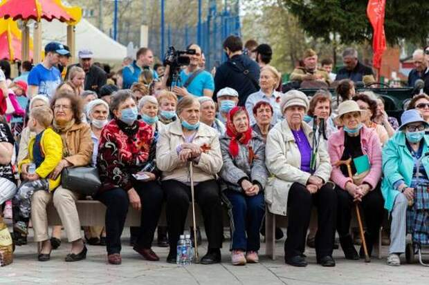 Концерт в честь Дня Победы прошел в Горском микрорайоне Новосибирска