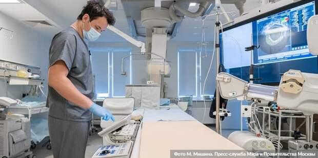 Собянин рассказал об оснащении больниц и поликлиник современным оборудованием. Фото: М. Мишин mos.ru