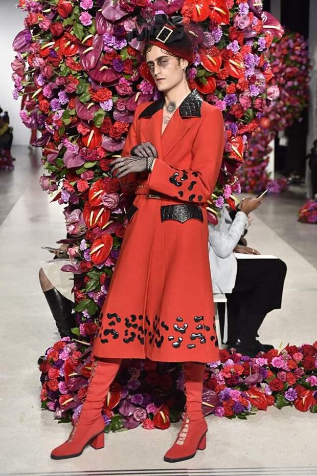 Показ испанского дизайнера на неделе мужской моды в Нью-Йорке