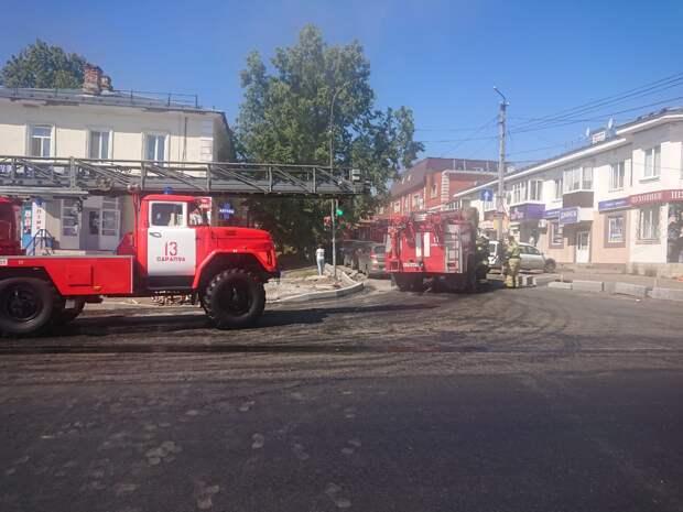 В Сарапуле огонь вспыхнул в магазине на улице Гагарина