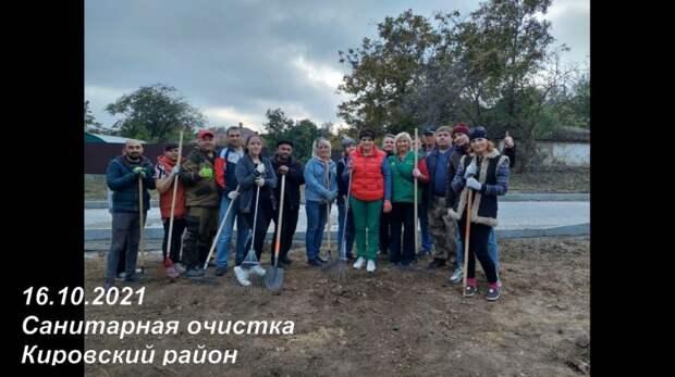 В Кировском районе объявили бой мусору!