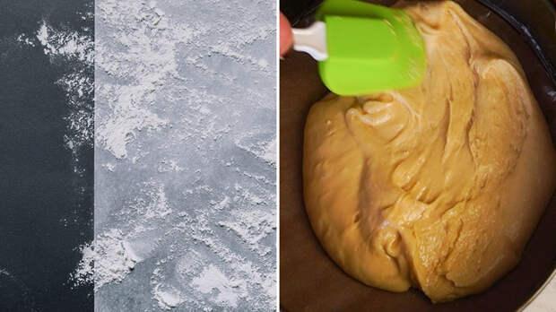 ленивый медовик со сметанным кремом
